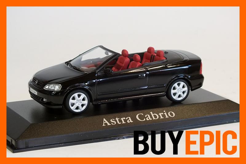 minichamps opel astra g cabrio 1 43 schwarz modellauto vitrinenmodell rar ebay. Black Bedroom Furniture Sets. Home Design Ideas